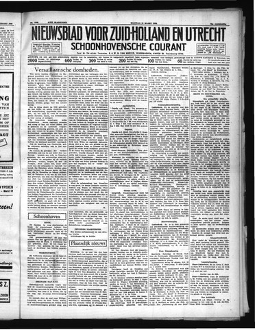 Schoonhovensche Courant 1938-03-21