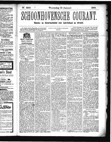 Schoonhovensche Courant 1900-01-10
