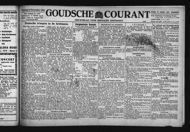 Goudsche Courant 1944-12-22
