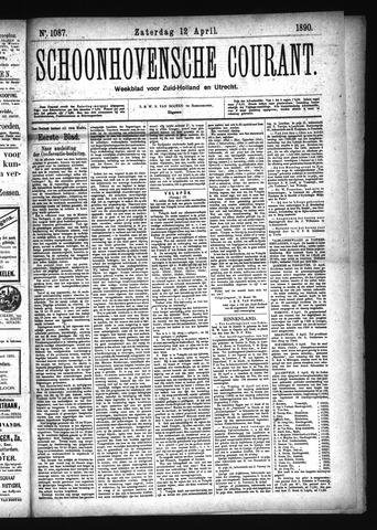Schoonhovensche Courant 1890-04-12