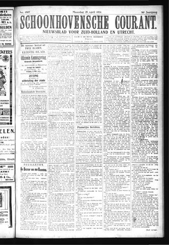 Schoonhovensche Courant 1924-04-28