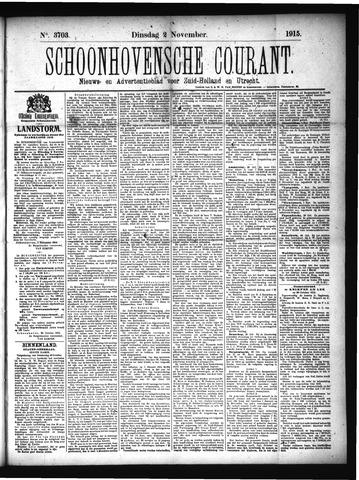 Schoonhovensche Courant 1915-11-02