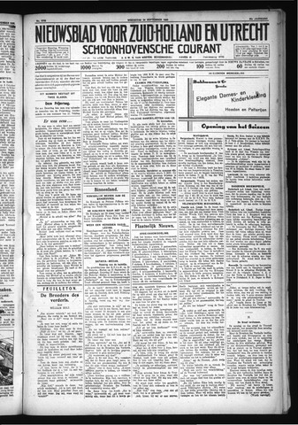 Schoonhovensche Courant 1930-09-24
