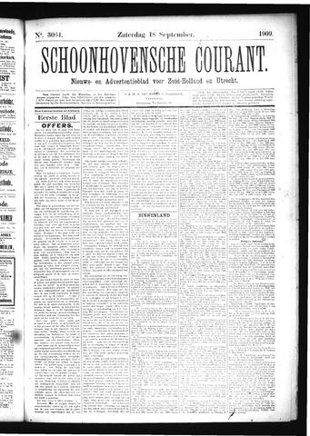 Schoonhovensche Courant 1909-09-18