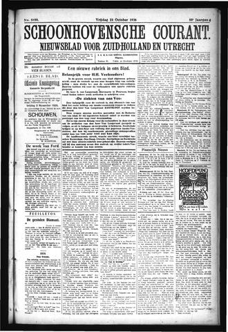 Schoonhovensche Courant 1926-10-22