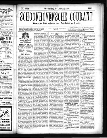 Schoonhovensche Courant 1895-11-27