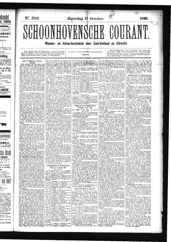 Schoonhovensche Courant 1896-10-17
