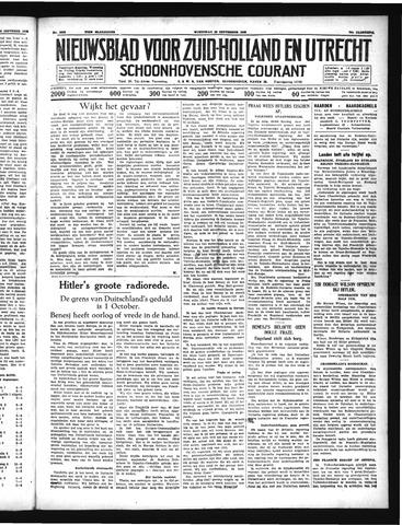 Schoonhovensche Courant 1938-09-28