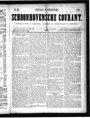 Schoonhovensche Courant 1873-02-16