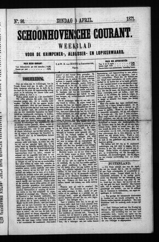 Schoonhovensche Courant 1871-04-30
