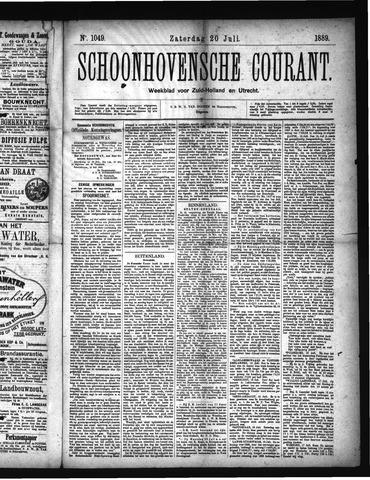 Schoonhovensche Courant 1889-07-20