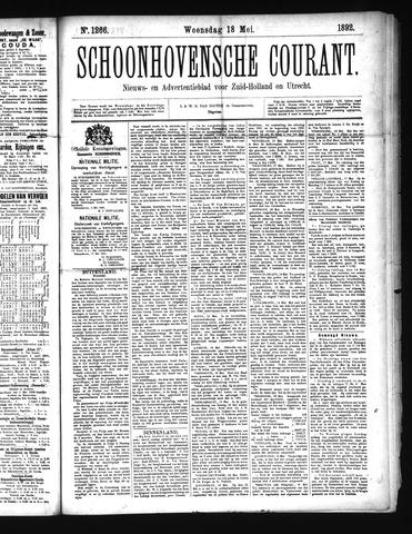 Schoonhovensche Courant 1892-05-18