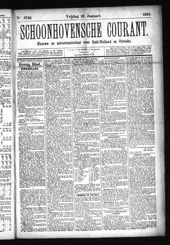 Schoonhovensche Courant 1916-01-21