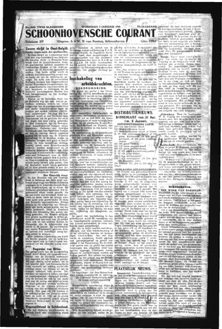 Schoonhovensche Courant 1945-01-03