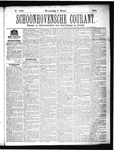 Schoonhovensche Courant 1910-03-02