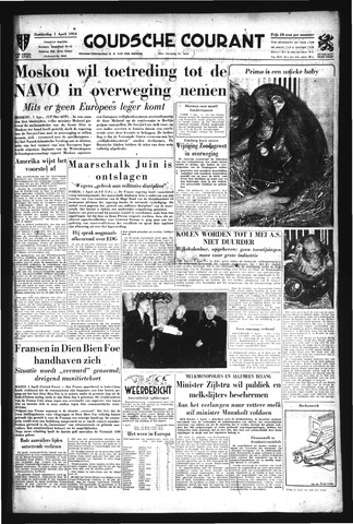 Goudsche Courant 1954-04-01