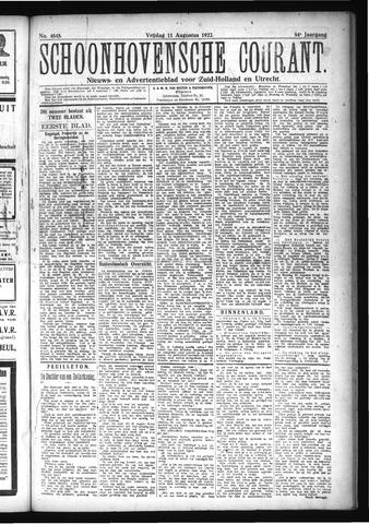 Schoonhovensche Courant 1922-08-11
