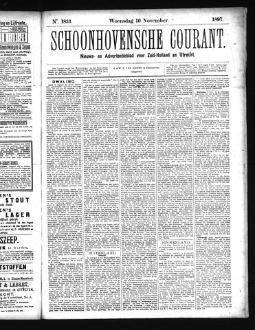 Schoonhovensche Courant 1897-11-10