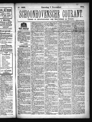 Schoonhovensche Courant 1914-11-07