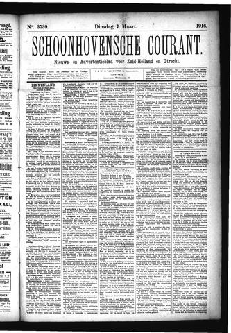 Schoonhovensche Courant 1916-03-07