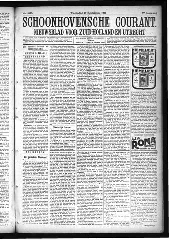 Schoonhovensche Courant 1926-09-29