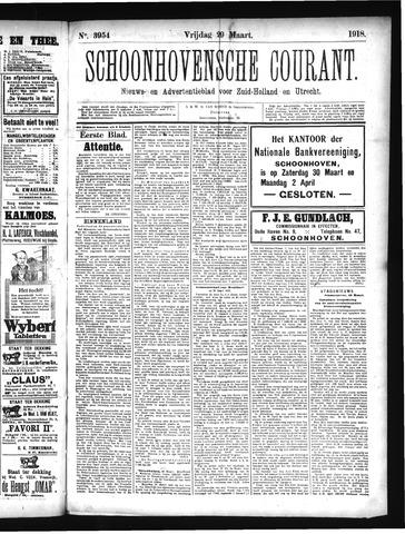 Schoonhovensche Courant 1918-03-29