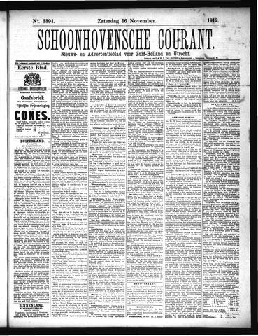 Schoonhovensche Courant 1912-11-16