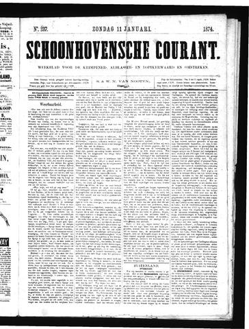 Schoonhovensche Courant 1874-01-11
