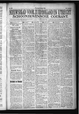 Schoonhovensche Courant 1929-01-16