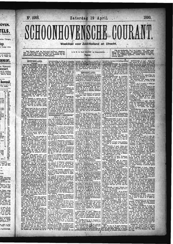 Schoonhovensche Courant 1890-04-19