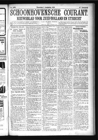 Schoonhovensche Courant 1925-08-03