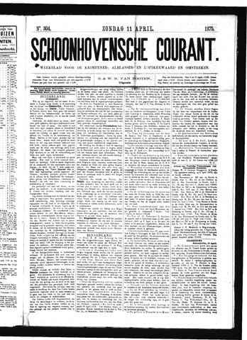 Schoonhovensche Courant 1875-04-11