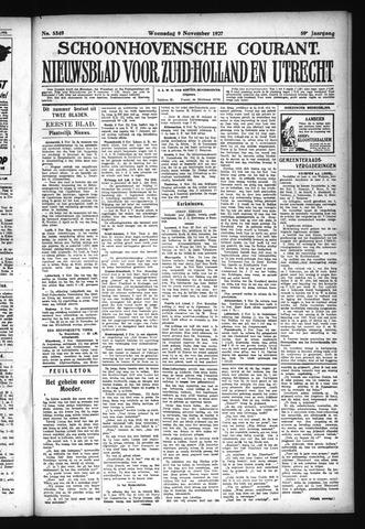 Schoonhovensche Courant 1927-11-09