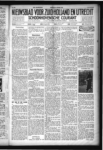 Schoonhovensche Courant 1932-10-26