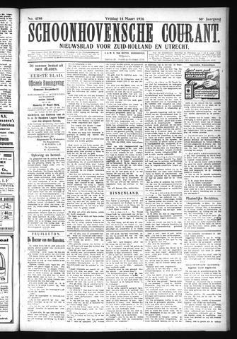 Schoonhovensche Courant 1924-03-14