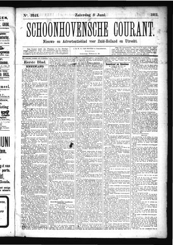 Schoonhovensche Courant 1911-06-03