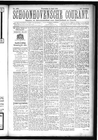 Schoonhovensche Courant 1922-04-12