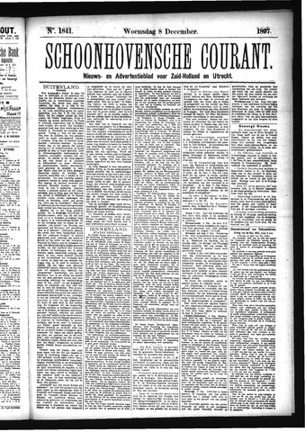 Schoonhovensche Courant 1897-12-08