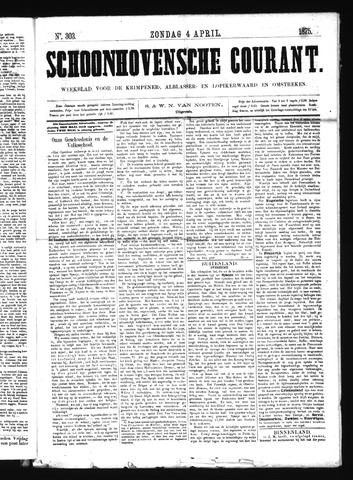 Schoonhovensche Courant 1875-04-04