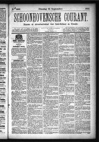Schoonhovensche Courant 1915-09-21
