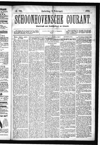 Schoonhovensche Courant 1884-02-09