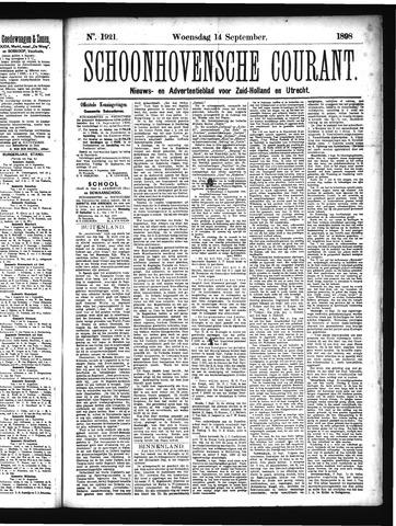 Schoonhovensche Courant 1898-09-14