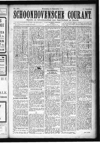 Schoonhovensche Courant 1923-09-12