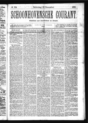 Schoonhovensche Courant 1886-12-18