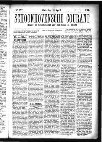 Schoonhovensche Courant 1897-04-10
