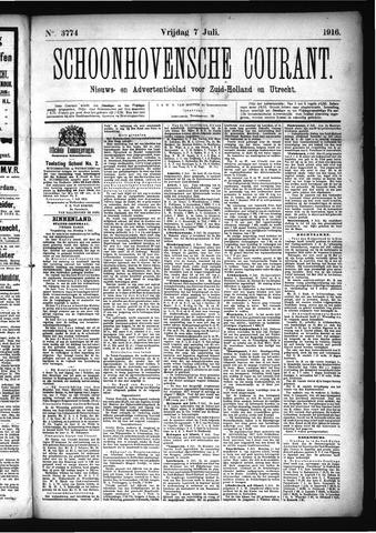 Schoonhovensche Courant 1916-07-07