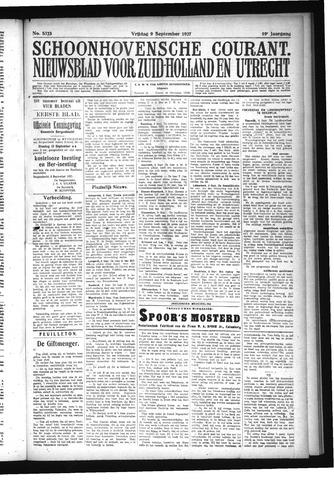 Schoonhovensche Courant 1927-09-09