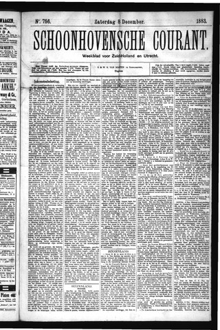 Schoonhovensche Courant 1883-12-08