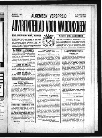 Advertentieblad Waddinxveen 1915-12-24