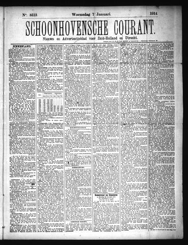 Schoonhovensche Courant 1914-01-07